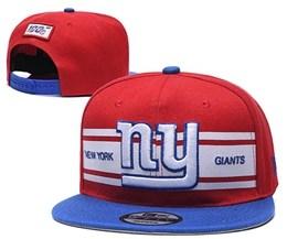 Mens Nfl New York Giants Red&blue 100th Snapback Adjustable Hats