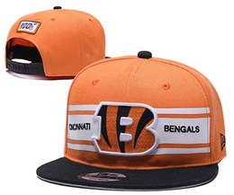 Mens Nfl Cincinnati Bengals Orange&black 100th Snapback Adjustable Hats