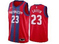 Mens 2019-20 Nba Detroit Pistons #23 Blake Griffin Red Motor City Edition Swingman Jersey