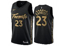 Mens 2019-20 Nba Toronto Raptors #23 Fred Vanvleet Black Toronto City Edition Nike Swingman Jersey
