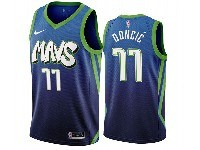 Mens 2019-20 Nba Dallas Mavericks #77 Luka Doncic Dark Blue Mavs City Edition Nike Swingman Jersey