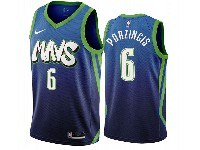 Mens 2019-20 Nba Dallas Mavericks #6 Kristaps Porzingis Dark Blue Mavs City Edition Nike Swingman Jersey