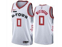 Mens 2019-20 Nba Houston Rockets #0 Russell Westbrook White H-town City Edition Nike Swingman Jersey