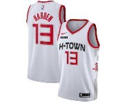 Mens 2019-20 Nba Houston Rockets #13 James Harden White H-town City Edition Nike Swingman Jersey