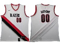 Mens Nba Portland Trail Blazers #00 Carmelo Anthony White Nike Swingman Jersey