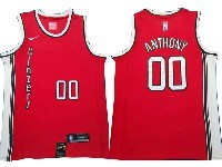 Mens Nba Portland Trail Blazers #00 Carmelo Anthony Red Nike Swingman Jersey