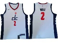 Mens 2019-20 Nba Washington Wizards #2 John Wall White City Edition Swingman Nike Jersey