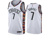 Mens 2019-20 Nba Brooklyn Nets #7 Kevin Durant Bed-stuy White City Edition Nike Jersey