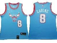 Mens 2019-20 Nba Chicago Bulls #8 Zach Lavine Light Blue City Edition Nike Swingman Jersey
