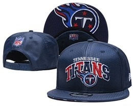 Mens Nfl Tennessee Titans Blue Snapback Adjustable Hats With Team Patch And Team Name