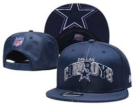 Mens Nfl Dallas Cowboys Navy Blue Snapback Adjustable Hats With Team Patch And Team Name