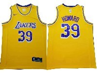 Mens Nba Los Angeles Lakers #39 Dwight Howard Gold Nike Swingman Jersey