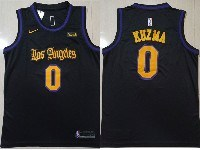 Mens Nba Los Angeles Lakers #0 Kyle Kuzma Black Latin Los Angeles Nike Swingman Jersey