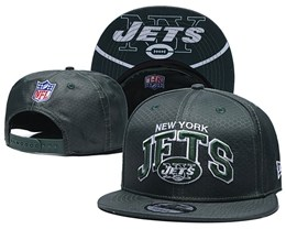 Mens Nfl New York Jets Black Snapback Adjustable Hats With Team Patch And Team Name