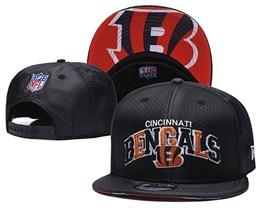 Mens Nfl Cincinnati Bengals Black Snapback Adjustable Hats With Team Patch And Team Name