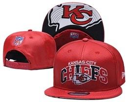 Mens Nfl Kansas City Chiefs Red Snapback Adjustable Hats With Team Patch And Team Name