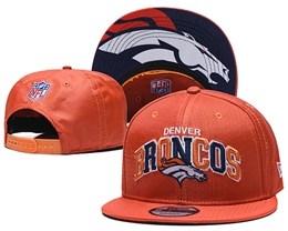 Mens Nfl Denver Broncos Orange Snapback Adjustable Hats With Team Patch And Team Name