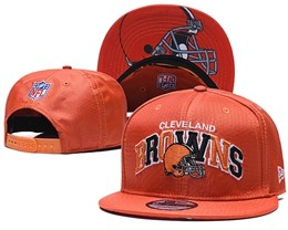 Mens Nfl Cleveland Browns Orange Snapback Adjustable Hats With Team Patch And Team Name