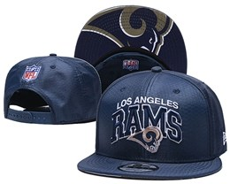 Mens Nfl Los Angeles Rams Blue Snapback Adjustable Hats With Team Patch And Team Name