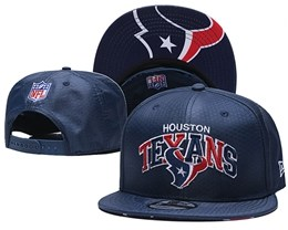 Mens Nfl Houston Texans Blue Snapback Adjustable Hats With Team Patch And Team Name