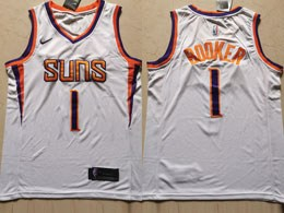 Mens Nba Phoenix Suns #1 Devin Booker White Swingman Nike Jersey