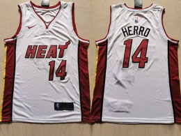 Mens Nba Miami Heat #14 Tyler Herro White Nike Swingman Jersey