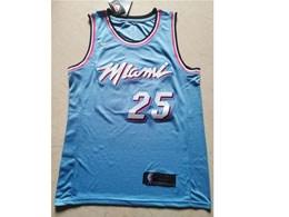 Mens 2019-20 Nba Miami Heat #25 Kendrick Nunn Light Blue City Edition Nike Swingman Jersey