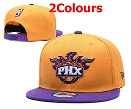 Mens Nba Phoenix Suns Orange&yellow Snapback Adjustable Hats 2 Colors
