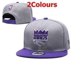 Mens Nba Sacramento Kings Purple&gray Snapback Adjustable Hats 2 Colors