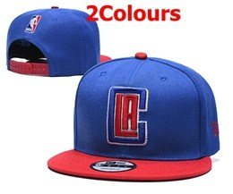 Mens Nba Los Angeles Clippers Blue Snapback Adjustable Hats 2 Colors