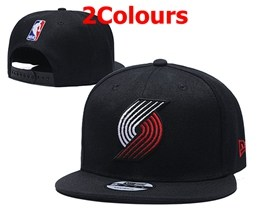 Mens Nba Portland Trail Blazers Black Snapback Adjustable Hats 2 Styles