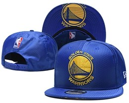 Mens Nba Golden State Warriors Blue Snapback Adjustable Hats With Team Patch And Team Name