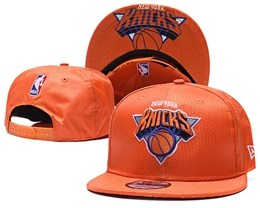 Mens Nba New York Knicks Orange Snapback Adjustable Hats With Team Patch And Team Name