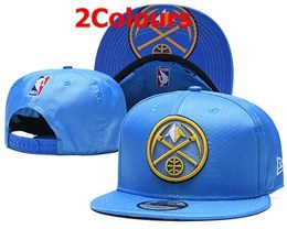 Mens Nba Denver Nuggets Blue Snapback Adjustable Hats 2 Colors