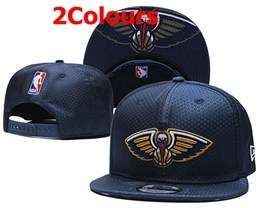Mens Nba New Orleans Pelicans Navy Blue Snapback Adjustable Hats 2 Colors