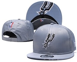 Mens Nba San Antonio Spurs Gray Snapback Adjustable Hats