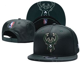 Mens Nba Milwaukee Bucks Dark Green Snapback Adjustable Hats