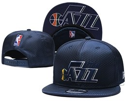 Mens Nba Utah Jazz Blue Snapback Adjustable Hats