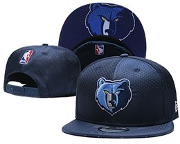 Mens Nba Memphis Grizzlies Dark Blue Snapback Adjustable Hats