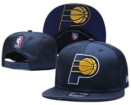 Mens Nba Indiana Pacers Dark Blue Snapback Adjustable Hats