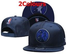 Mens Nba Minnesota Timberwolves Blue Snapback Adjustable Hats 2 Colors