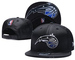 Mens Nba Orlando Magic Black Snapback Adjustable Hats
