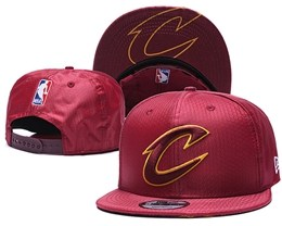 Mens Nba Cleveland Cavaliers Red Snapback Adjustable Hats
