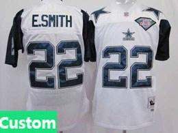 Mens Nfl Dallas Cowboys Custom Made White 75th Throwbacks Jersey
