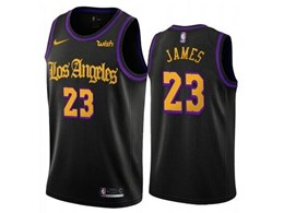 Mens 2019-20 Nba Los Angeles Lakers #23 Lebron James Black Nike Swingman Jersey