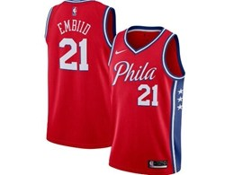 Mens 2019-20 Nba Philadelphia 76ers #21 Joel Embiid Red Nike Swingman Jersey
