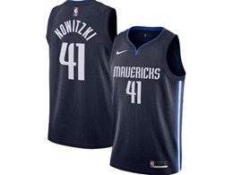 Mens 2019-20 Nba Dallas Mavericks #41 Dirk Nowitzki Dark Blue Nike Swingman Jersey