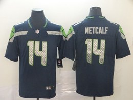 Mens Nfl Seattle Seahawks #14 Dk Metcalf Blue Vapor Untouchable Limited Jerseys