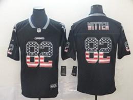 Mens Nfl Dallas Cowboys #82 Jason Witten Black Usa Flag Vapor Untouchable Limited Jersey