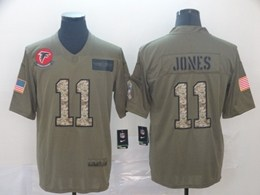 Mens Nfl Atlanta Falcons #11 Julio Jones 2019 Green Olive Camo Salute To Service Nike Limited Jersey